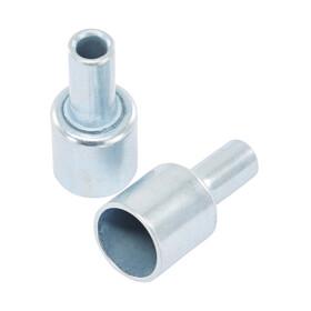 CAMPZ Tapas para varillas de montaje de fibra de vidrio - Accesorios para tienda de campaña - 13 mm set de 2 unidades Plateado